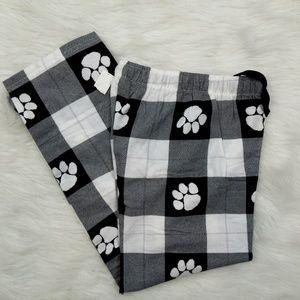 Boxercraft Paw Print Pajama Pants Kids M